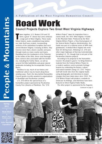 People Mountains Road Work - West Virginia Humanities Council