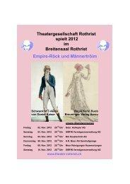 Theatergesellschaft Rothrist spielt 2012 im Breitensaal ... - regiolive.ch
