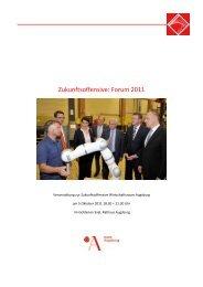 Zukunftsoffensive: Forum 2011 - Stadt Augsburg