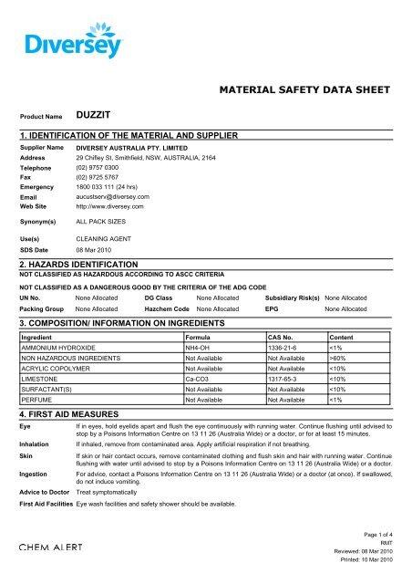 classification of hazardous agents pdf