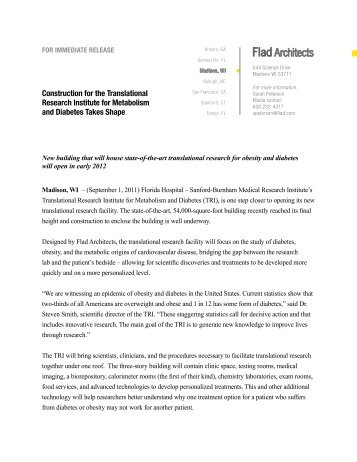 Read the press release - Flad Architects