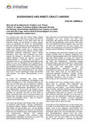 Buddhismus und Arbeit: Ora et labora? - Freunde des Westlichen ...