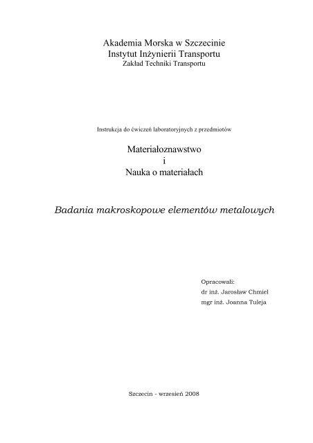 badania makroskopowe - Akademia Morska w Szczecinie