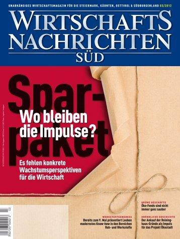 Ausgabe 03/2012 Wirtschaftsnachrichten Süd