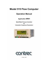 Model 515 Flow Computer Operation Manual Application ... - Insatech