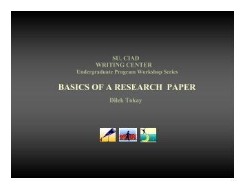 Basics of a Research Paper - CENTER FOR INDIVIDUAL and ...