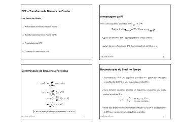 DFT – Transformada Discreta de Fourier Amostragem da FT ...
