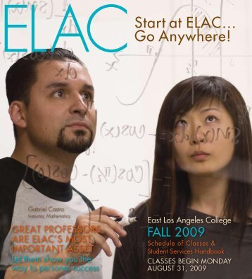 start at ELAC… go Anywhere! - East Los Angeles College