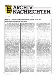 Archivnachrichten Nr. 29 , Dezember 2004 (application/pdf 933.9