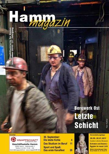 Bergwerk Ost - Letzte Schicht - Verkehrsverein Hamm