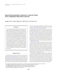 Spectral-decomposition response to reservoir fluids from a ...