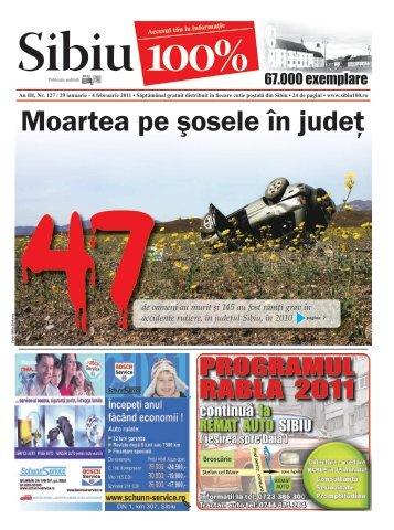 Moartea pe şosele în judeţ - Sibiu 100