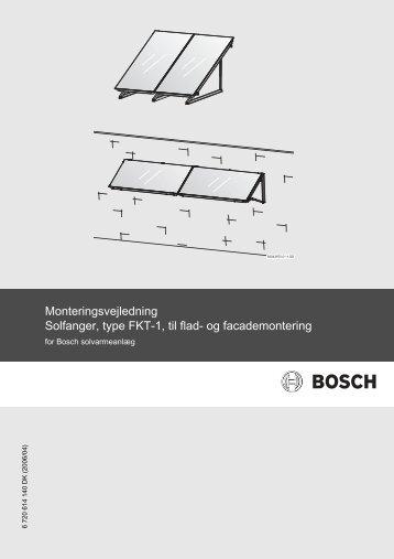 Monteringsvejledning Solfanger, type FKT-1, til flad- og ...