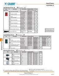 Auer Signaling North American Price List from Sprecher ... - E-Catalog