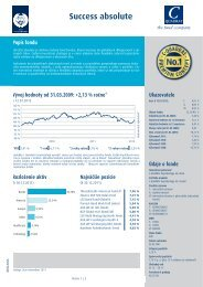 Success absolute Popis fondu - MBI