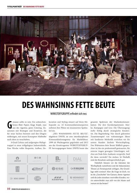 DES WAHNSINNS FETTE BEUTE - Südwestfalen Manager
