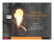 OpenVMS Performance Tips & Tricks