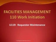 U119 Requestor Maintenance - Facilities Management