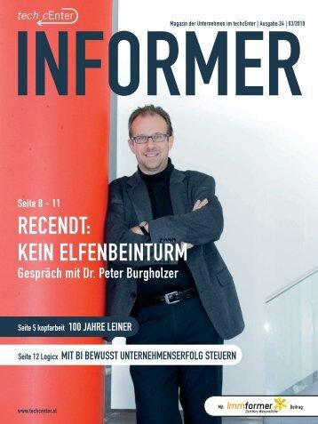 RECENDt: KEIN ELFENbEINtURM - (cocean.creato.at ...