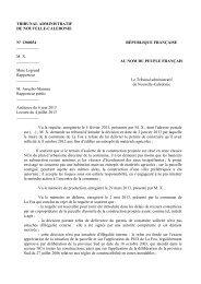 TRIBUNAL ADMINISTRATIF DE NOUVELLE-CALEDONIE N ...
