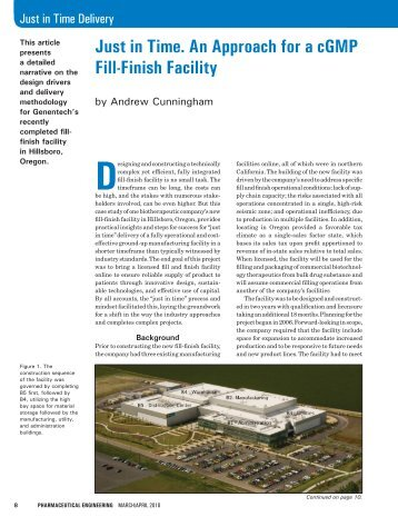 Just in Time. An Approach for a cGMP Fill-Finish ... - Flad Architects