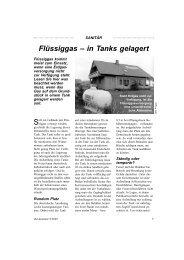 Flüssiggas – in Tanks gelagert