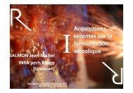 Acquisitions récentes sur la fermentation alcoolique - rencontres-du ...