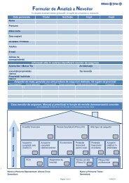 Formular de Analiză a Nevoilor - MBI