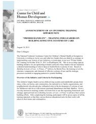 invitation letter - National Technical Assistance Center for Children's ...