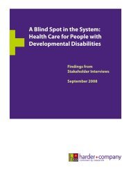 Health Care for People with Developmental Disabilities - The Barrier ...
