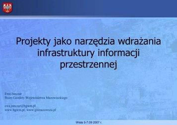 Projekty jako narzędzia wdrażania infrastruktury informacji ...