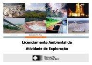 Licenciamento Ambiental da ã Atividade de Exploração - ADIMB