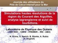 Simulations hautes résolutions de la région du Courant des ...