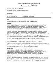 Dokumentation: 9 A 103/11 Hessischer Verwaltungsgerichtshof