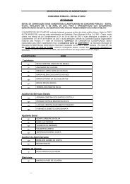 Concurso Público - Edital 01/2012 - Prefeitura Municipal de Rio Claro