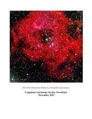 nov 2011 newsletter - Longmont Astronomical Society