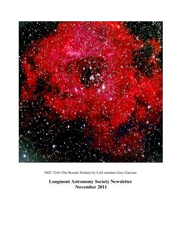 nov 2011 newsletter - Longmont Astronomical Society