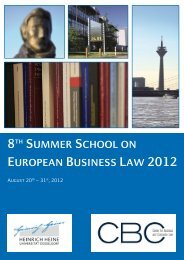 8th Summer School on European Business Law 2012 August 20th ...