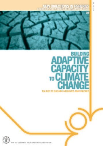 Building adaptive capacity to climate change - FAO.org