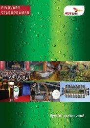 Staropramen – výroční zpráva 2008