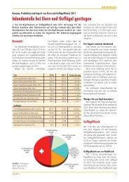 Inlandanteile bei Eiern und Geflügel gestiegen - Aviforum