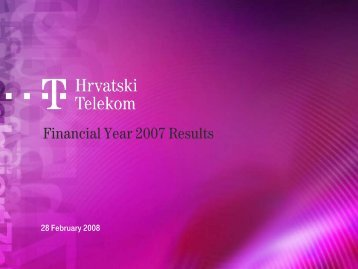 Presentation - T-Hrvatski Telekom