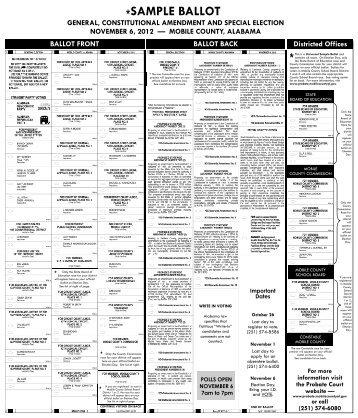 SAMPLE BALLOT - Alabama Votes
