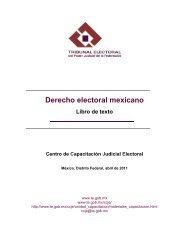 Derecho electoral mexicano - Tribunal Electoral del Poder Judicial ...