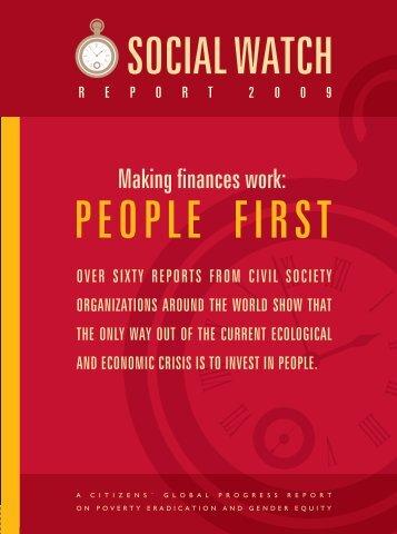 Social Watch Report 2009
