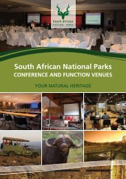 conference and function venues - SANParks