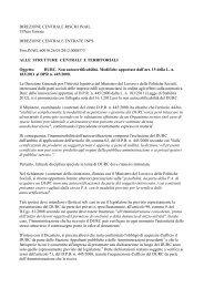 DIREZIONE CENTRALE RISCHI INAIL Ufficio Entrate DIREZIONE ...