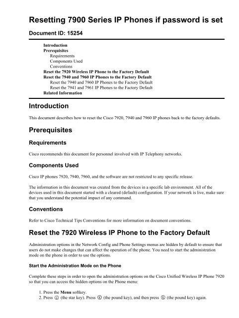 Cisco Ip Phone 7940 Setup
