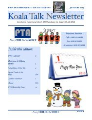 Koala Talk Newsletter - January - Cowlishaw Elementary School