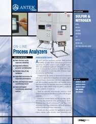 Series 6000 On-Line Process Analysers product brochure